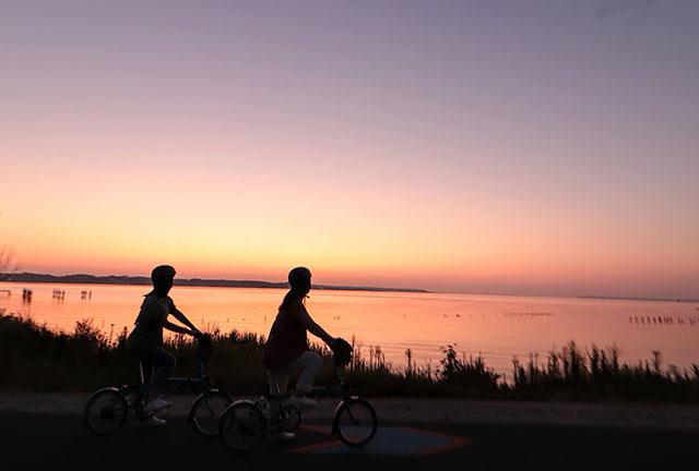 朝焼け絶景サイクリング 距離も長くないので初心者にもぴったり