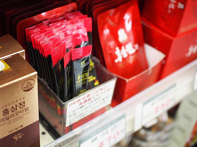 「6年根 紅参エキス」※高麗人参スティック 470円(税抜)