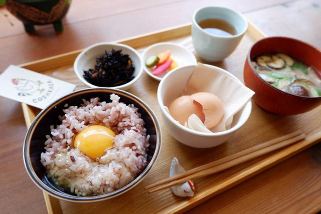 朝食屋コバカバ 「卵かけご飯定食」 760円(税別)