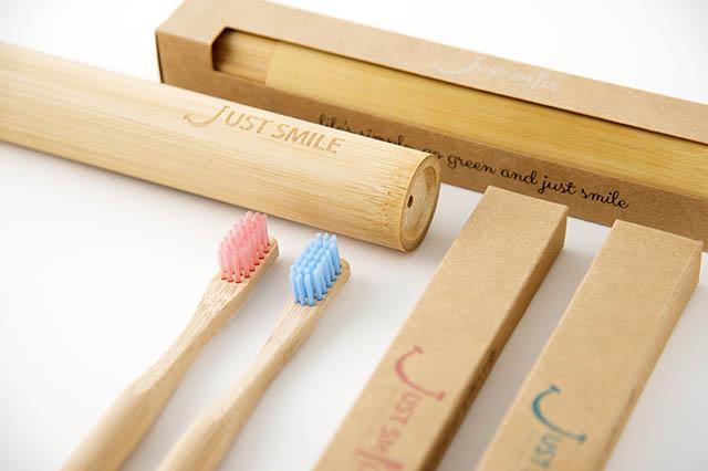 南米の教育格差をなくす活動を推進するJustSmileの竹製歯ブラシ