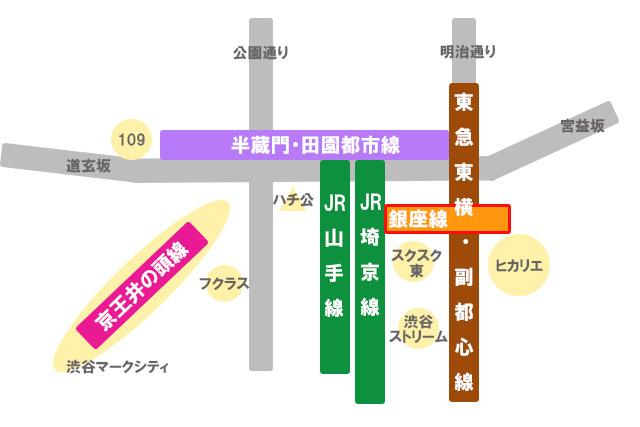 渋谷駅 路線と周辺施設の位置関係は要チェック!