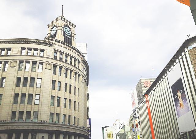 Wako on the left, and Mitsukoshi on the right