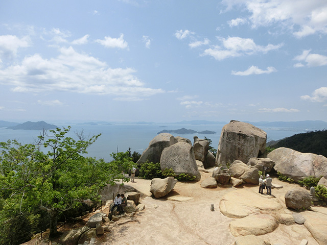 View from the top of Mt. Misen