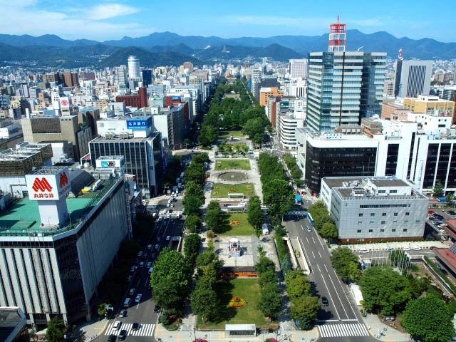 Odori Park seen from Sapporo TV Tower