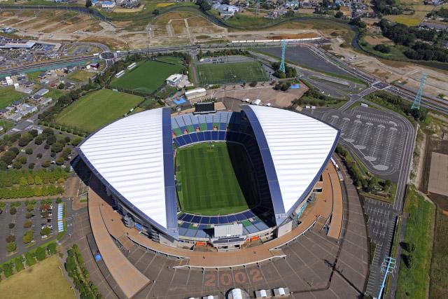 Saitama Stadium Drone Shot
