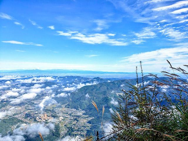 Bird's-eye view over Chichibu City
