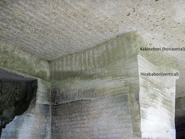 Remnants of excavation