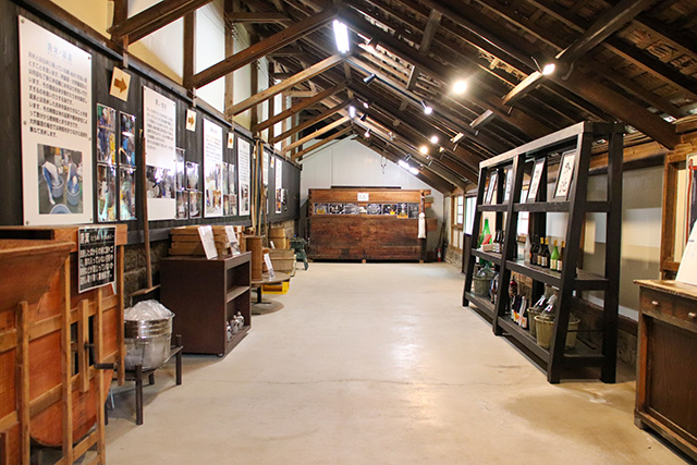Sake Museum, the displays are written in Japanese, however, English guide is offered too