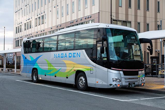 前往「志賀高原」方向的急行巴士