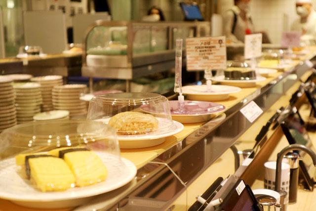 もちろんレーンにのっているお寿司もあります。
