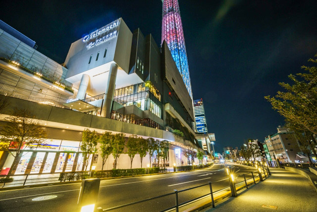 Solamachi at the foot of Sky Tree
