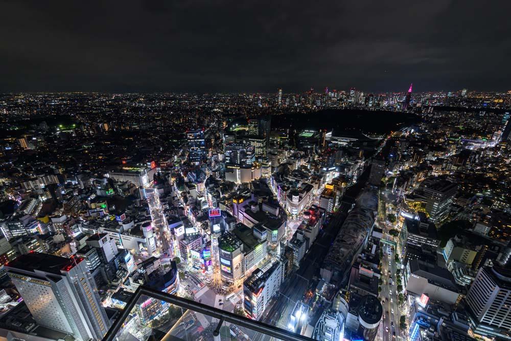 SHIBUYA SCRAMBLE SQUARE觀景台的夜景